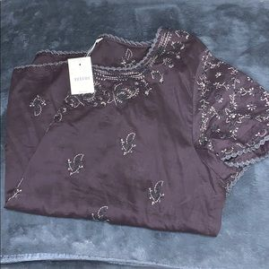 Embroidered JCrew Peasant Top